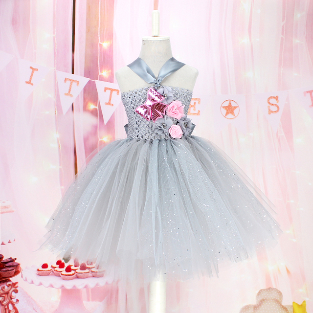 b1466f21e72f6e US $5.04 5% OFF|lovely baby girls handmade tulle dress robe fille unicorn  party tutu dress baby girls photo prop princess dress-in Dresses from  Mother ...