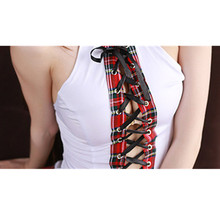 Sexy lingerie hot Seductive red plaid sexy school uniform for girls sexy dress women fantasias erotic sexy costumes hollow out