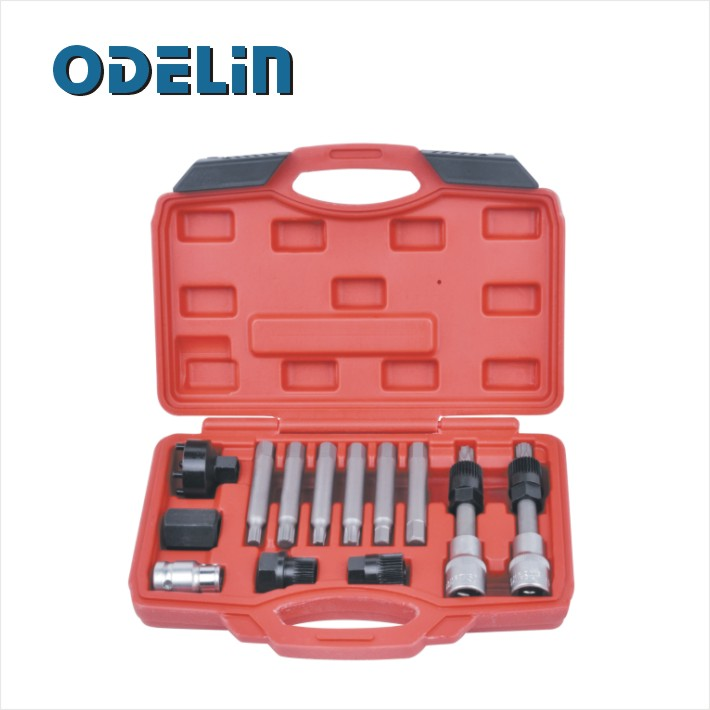13 Pc Alternator Pulley Tool Kit