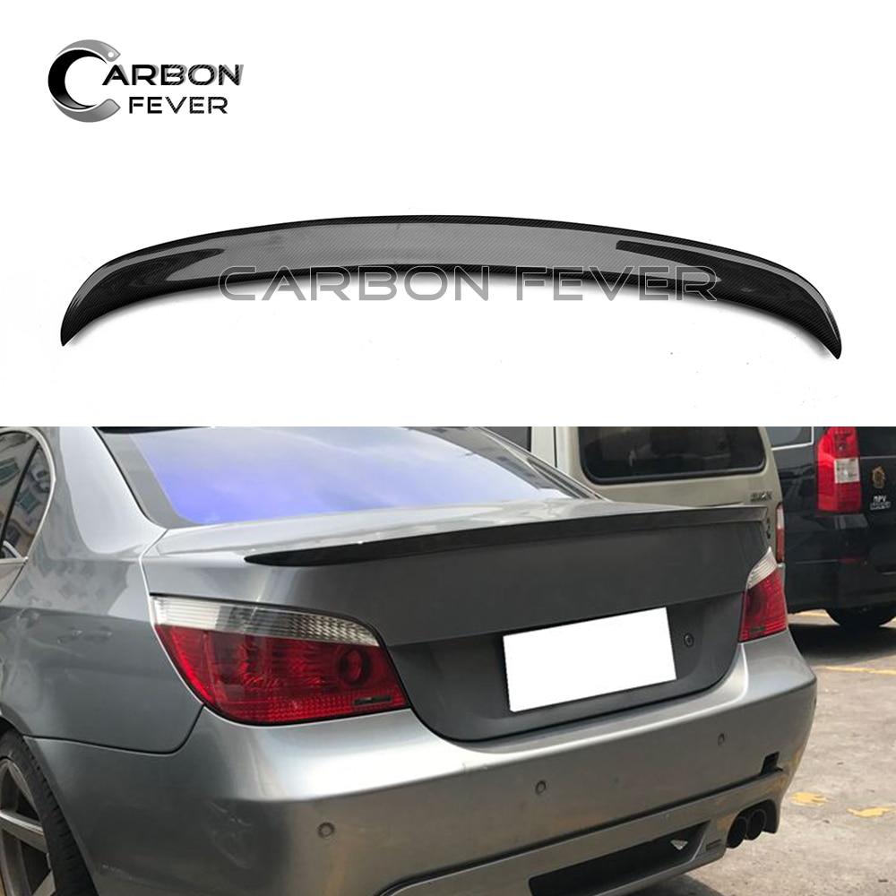 E60 Rear Trunk Carbon Fiber Spoiler Wing For BMW 5 Series E60 Sedan 2004 - 2009 525i 528i 530i e60 carbon fiber rear trunk boot wing lip spoiler for bmw 5series m5 style 05 11