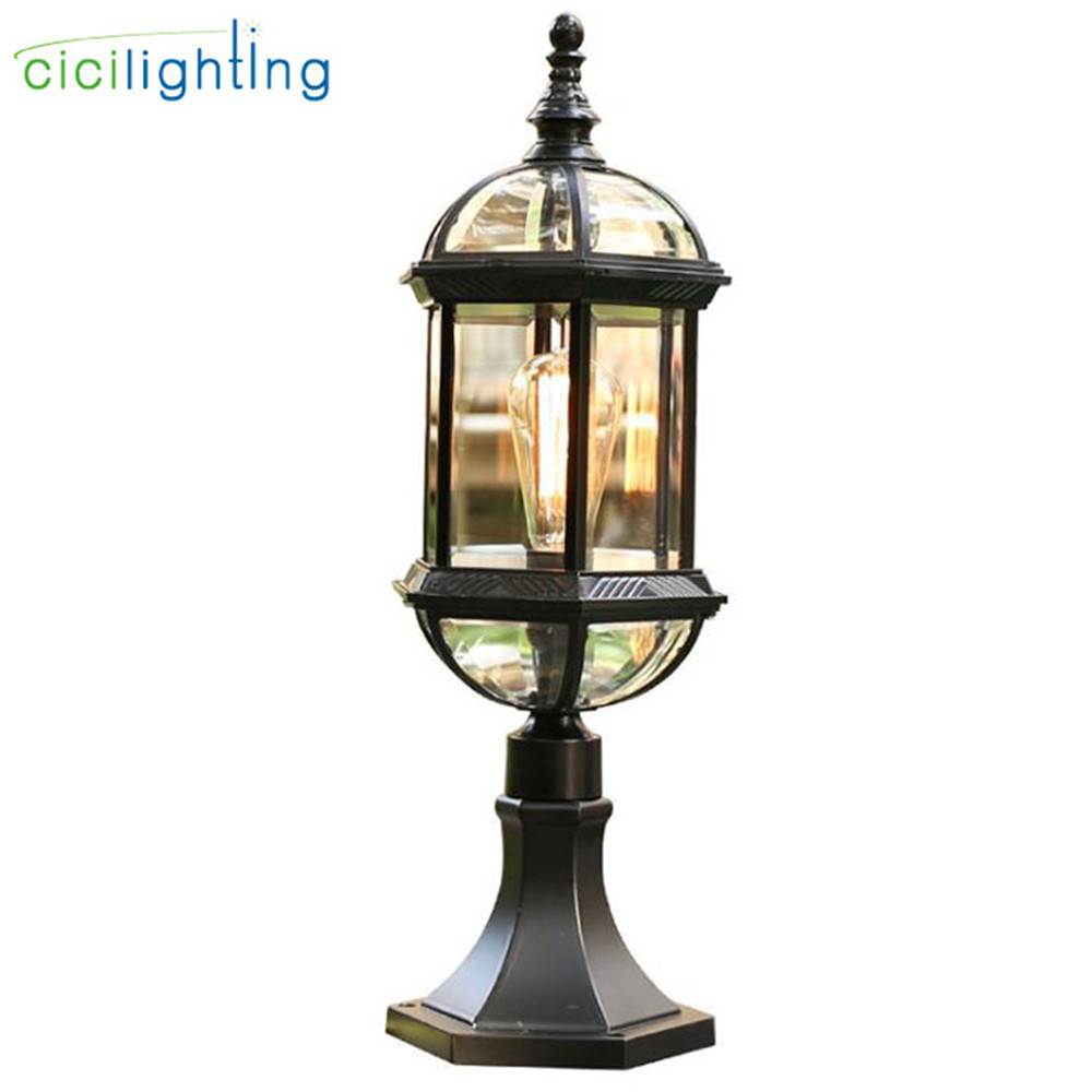 Waterproof Led Pillar Wall Lamp Vintage