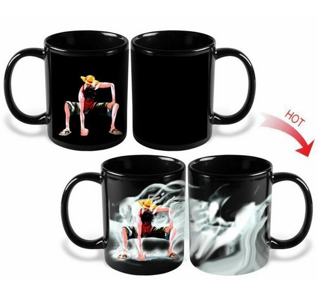 One Piece Luffy Heat Reactive Color Change Coffee Mug Cup
