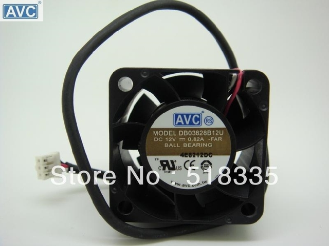 Avc Db03828b 12u 38mm 383828mm 3828 12v Dual Ball Fan Mini Micro