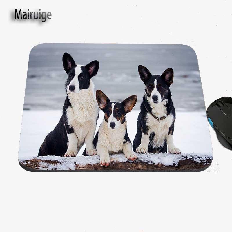 Custom Cute Corgi Dog Anime Animal Mouse Pad Rubber Anti-skid for Laptop PC Player Speed Control Decorative Table Mat