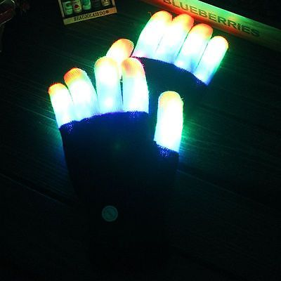 Glowing Rave Gloves 2