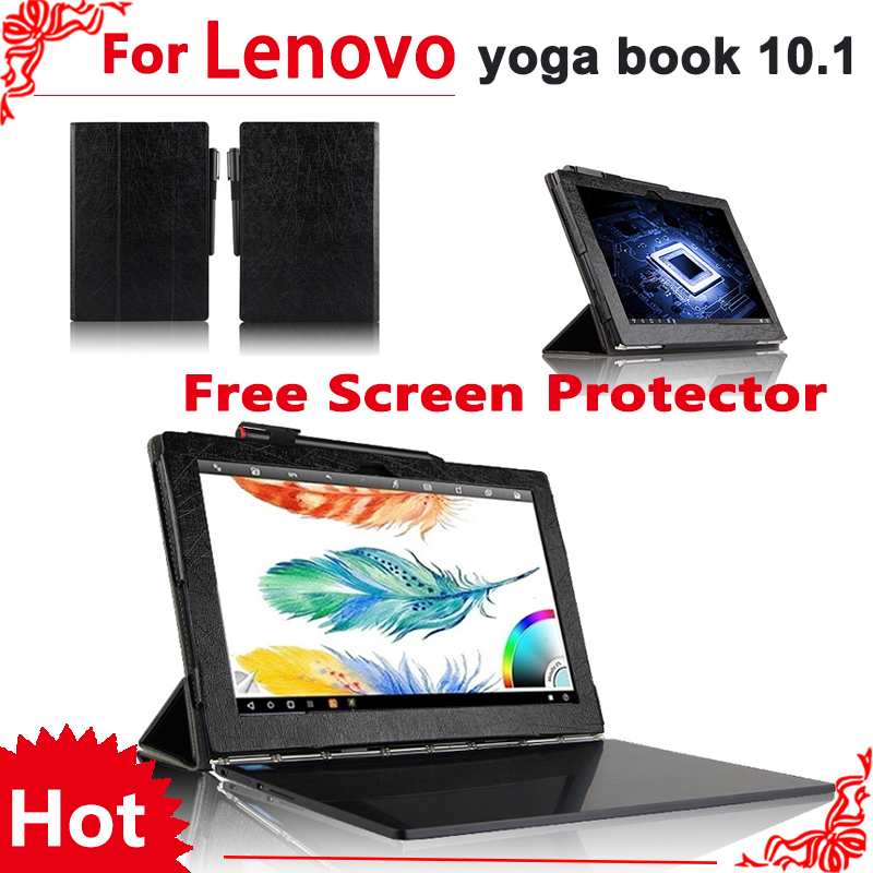 все цены на  high quality Case for lenovo yoga book 10.1 inch Tablet PC pu Leather Protective Cover for yoga book 10.1