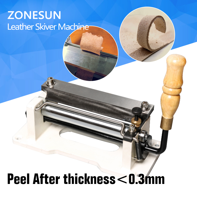 6 inch Manual leather skiver,handle leather peel tools,DIY shovel skin Machine,leather splitter,vegetable tanned leather peeler