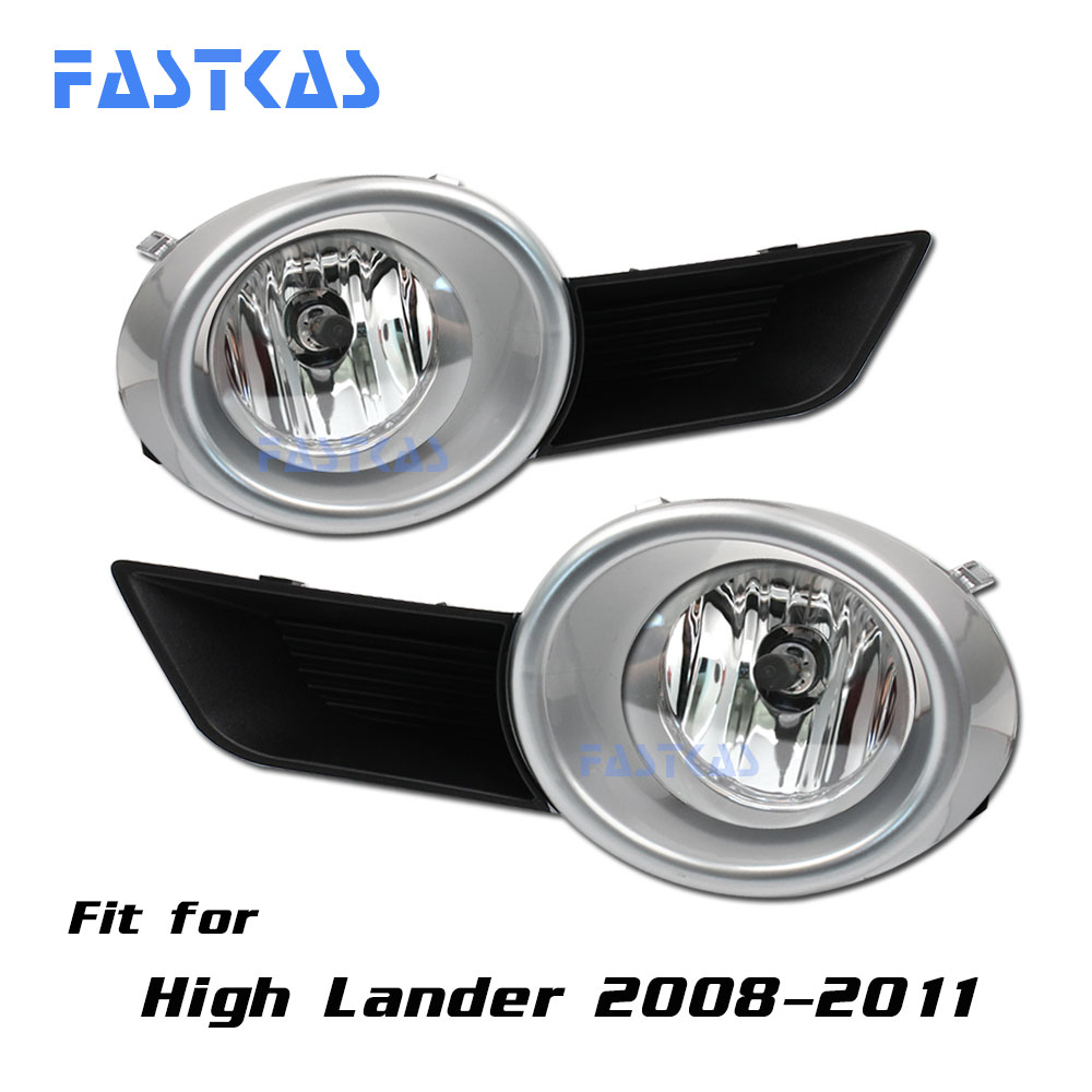 12v Car Fog Light Assembly for Toyota High Lander 2008-2011 Left & Right Fog Light Lamp with Switch Harness Relay Fog Light car fog light assembly for mitsubishi pajero 2007 2008 2009 left