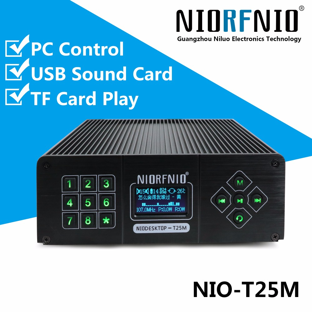 New Arrival T25M 0~25 Watt Power Transmitter PLL FM Radio Station Kit+ Audio Cable+USB line+Anti-collision Antenna цена