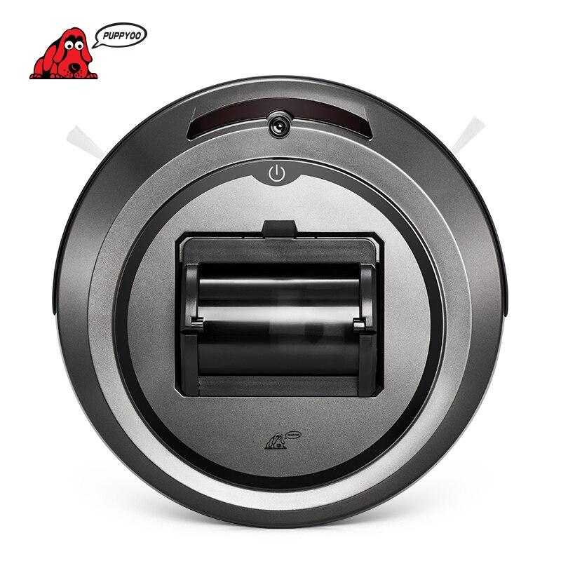 PUPPYOO aspiradora robótica multifuncional inteligente de auto-carga y de alta potencia de succión cepillos laterales WP615