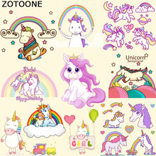 ZOTOONE Iron On Transfer Unicorn Pathes Heat Print T-shirt Dresses Jeans Bags A-level Washable Stickers Children Gift F