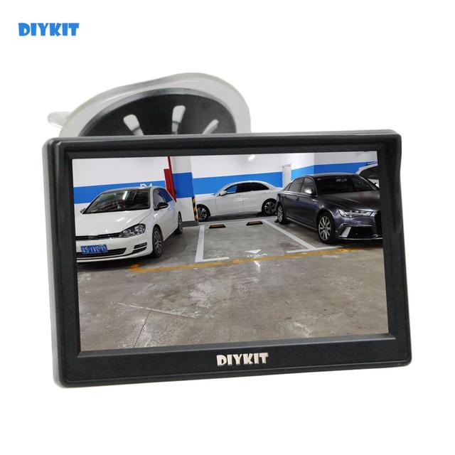 DIYKIT 800 x 480 5 Inch TFT LCD Display Car Rear View Monitor with Suction Cup and Free Bracket For MPV SUV Horse Lorry