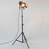 Industrial Floor Lamp Creative Retro Tripod Black Floor Lamp Lights Room Standing Lights Living Room Fixtures Decor Lighting