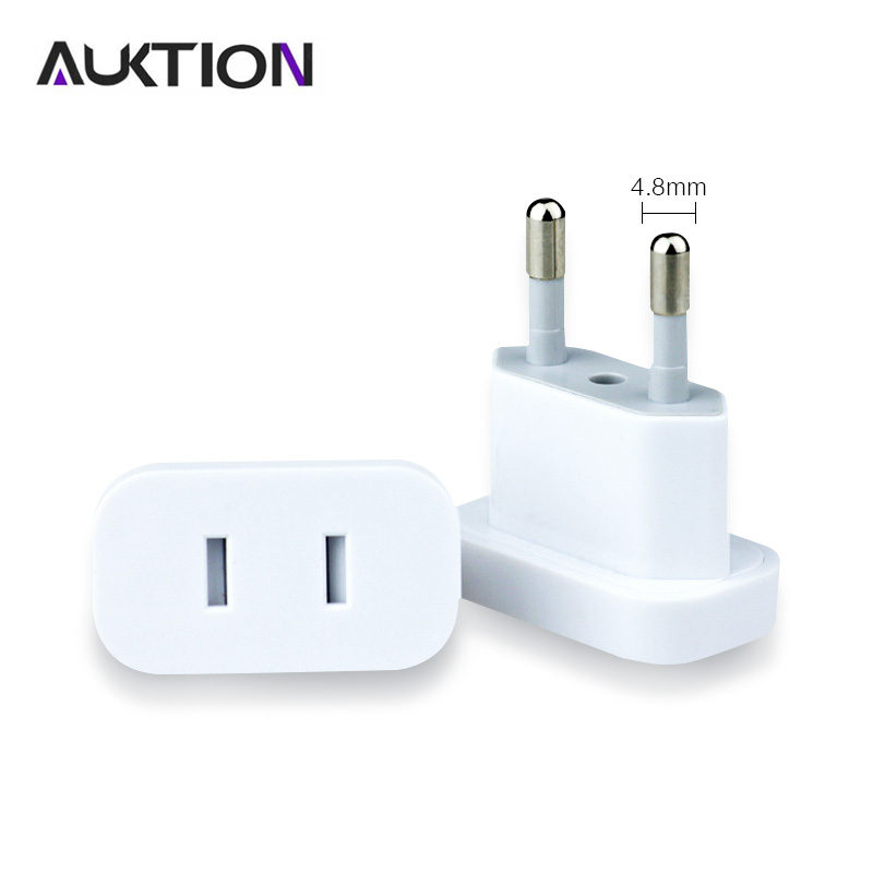 AUKTION High Quality Red Copper EU Adapter US USA to European EU Travel Charger Adapter Plug Outlet Converter Adapter AC 250V