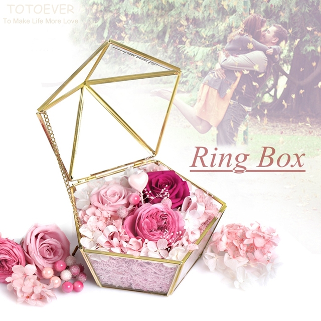 Stained Glass Box Engagement Ring Box Jewelry Gift Wedding Ring