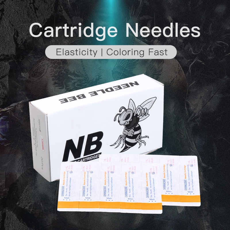 Box 20 pcs Disposable Tattoo Cartridge Needles Rotary Pen Sterile Needles Supply stainless steel 15f flat sterile tattoo needles silver 50 pcs