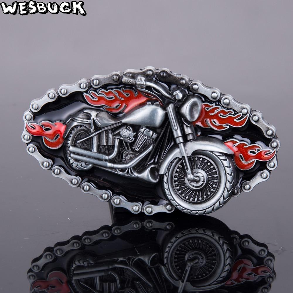 Born to be Free Motorcycle Biker /& Wolf Black Enamel Metal Belt Buckle