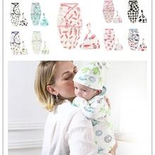 2 шт./компл.! Модное детское одеяло для новорожденных; пеленка для сна; муслиновая повязка на голову; детское платье для сна; пижамы для младенцев