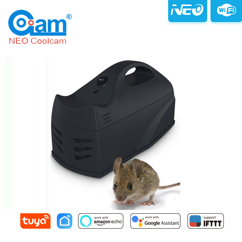 NEO NAS-MA01W WiFi Mousetrap Sensor Board Sticky Mice Glue Trap Rodent Rat Snake Bugs Catcher Work For Alexa Google Home,IFTTT