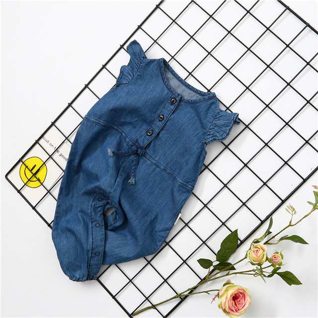 1794af40f4b Toddler Kids Baby Girls Denim Jumpsuit Romper Playsuit Wash Skinny Legs  Girls Jeans Denim Overall Summer Clothes long pants