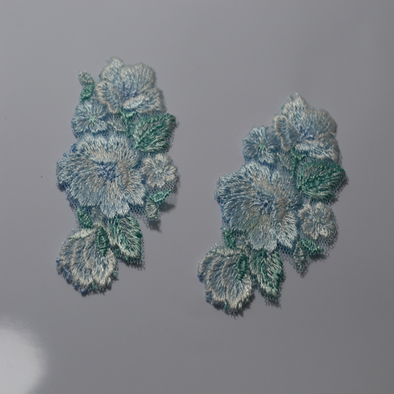 Envío gratis 8.5 * 4.5 cm (3 piezas / lote) parches de color azul - Artes, artesanía y costura - foto 2