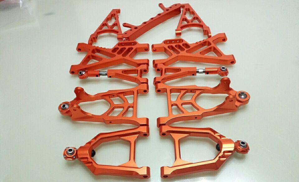 CNC Alloy suspension arm front and rear Set for 1/5 hpi baja 5b parts km rovan 11pcs new arrivals baja new front suspension arm set