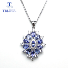 TBJ,new 2018 flower pendant with natural tanzanite gemstone