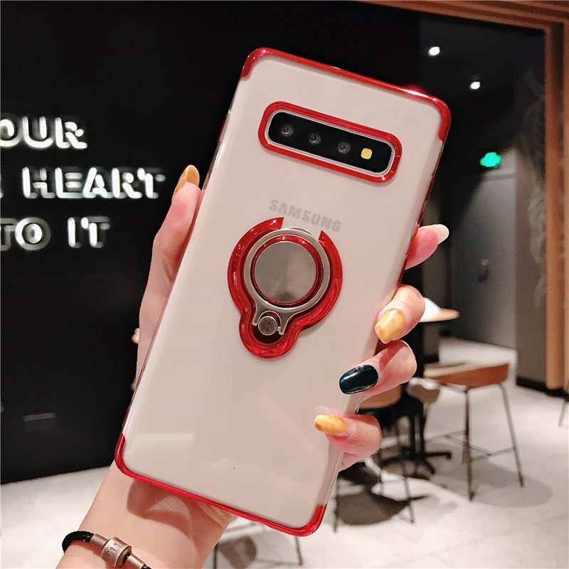 Note10 Finger Stand Case For Samsung A10 A50 <font><b>s105G</b></font> lite Clear Magnetic Adsorption Cover For Samsung Galaxy Note 9 S8 S9 S10 plus image