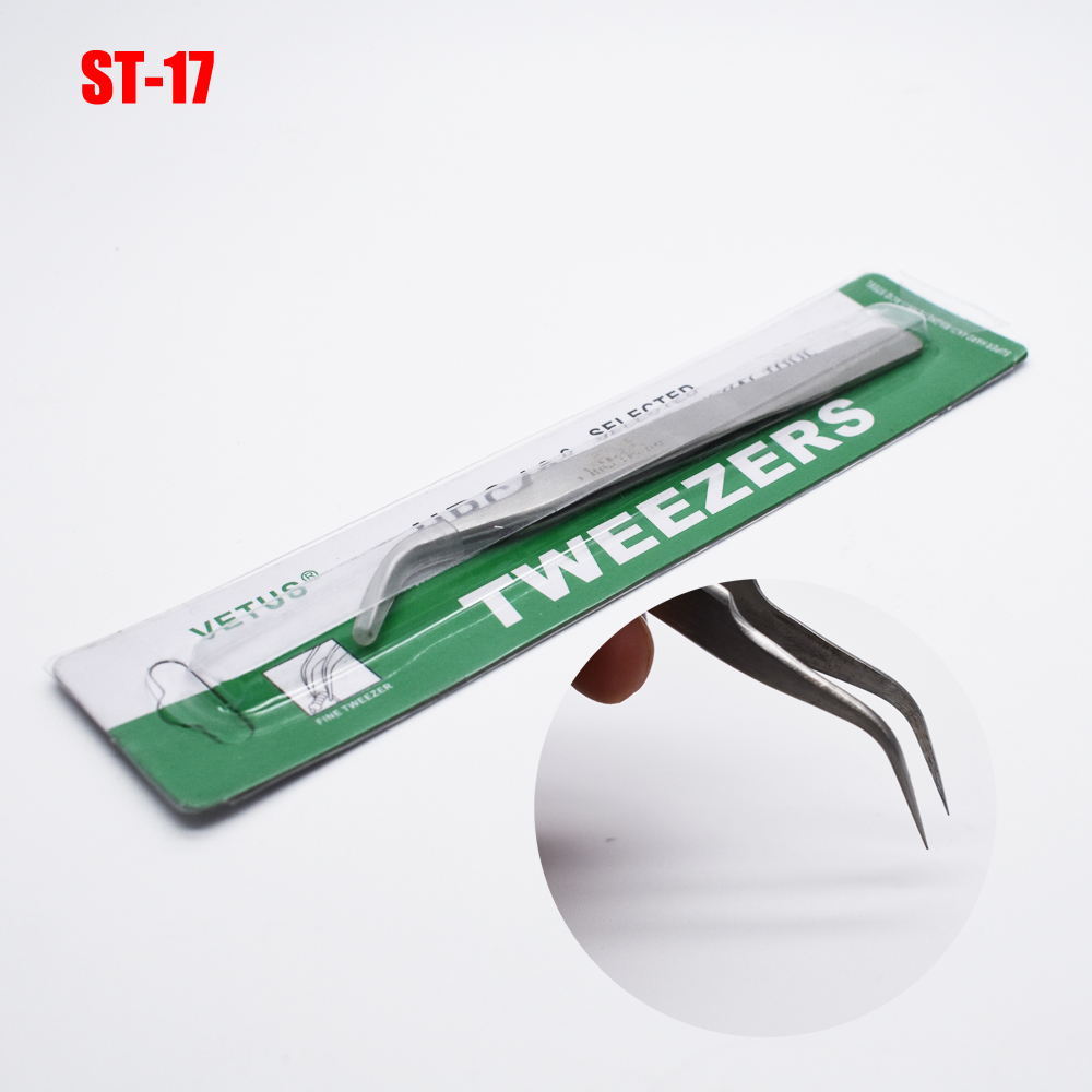 1 Pc Precision Stainless Steel Tweezers Vetus Switzerland Diy Tweezers Herramientas Hand Tools ST-17