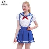 ROLECOS Sailor Kleid Schule Mädchen Uniform Puff Kurzarm Kleider Cosplay Party Kleider Jede Größe Angepasst