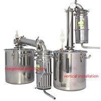 Бесплатная доставка 30l большая емкость из нержавеющей стали вино пивоварения машина оборудования алкоголь водка ликер дистиллятор горшок/
