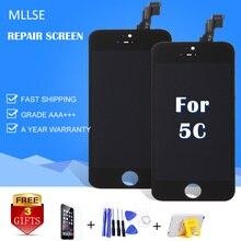 Pantalla lcd para iphone 5c 5g 5S mllse aaa pantalla con Toque Asamblea Digitalizador Pantalla de Vidrio De Reparación de Reemplazo A1456 1507 1526