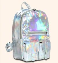 Stacy tasche heißer verkauf besten verkauf gold silbrig mädchen candy farbe mode rucksack adrette schüler schultasche damen casual tasche