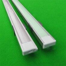5-15 шт./лот, 1 м алюминиевый профиль для прокладки водить, млечный/прозрачная крышка для 12 мм 5050 полосы с LED фитинги бар свет CC-1607