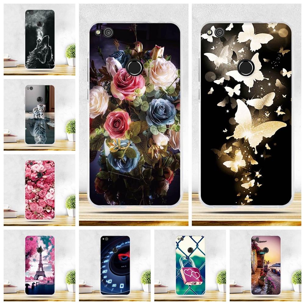 For Huawei P8 Lite 2017 Soft Silicon Case Huawei Honor 8 Lite Cover TPU Soft Back Cover For Huawei Honor 8 Lite/P9 Lite 2017 Bag