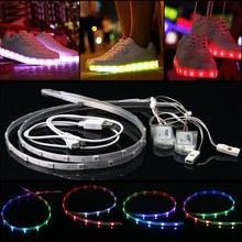 Mising 2PCS 60CM 18 LED Strip Light RGB 5050 smd USB Battery Power Dream Color Changing LED Strip Shoes Light