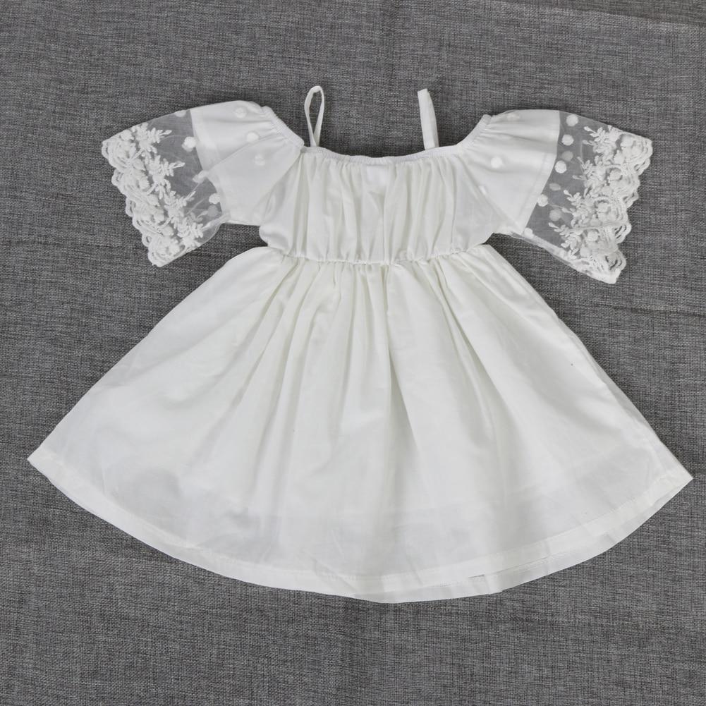 Baby Mädchen off schulter Kleider Prinzessin Kinder Baby Mädchen ...