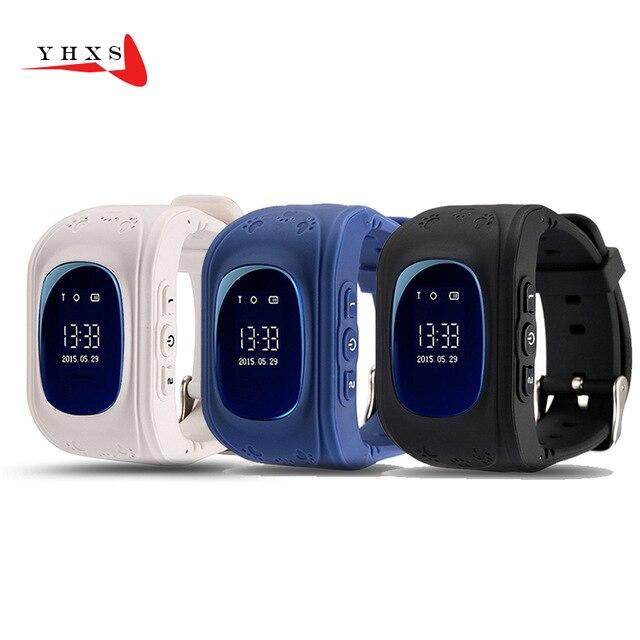 Q50 GPS умный ребенок безопасный часы SOS вызова Расположение Finder трекер для ребенка анти потерял удаленного Мониторы детские наручные часы PK T58