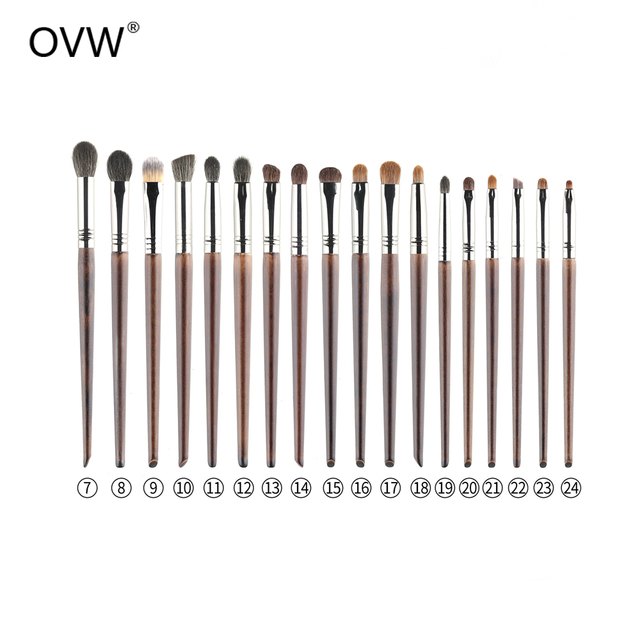 OVW Goat Hair Small Precision Pointed Shader Brush Natural Pencil Crease Goat Hair Detail Make Up Brushes Tools kist' dlya teney 1