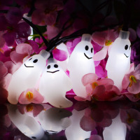 Ghost Shape String Light Halloween Lights 20 30 LED Solar Lamp Outdoor Backyard Garden Tree Ornament