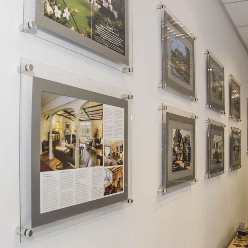 A3 wall mounted acrylic frame poster holder with LED ...