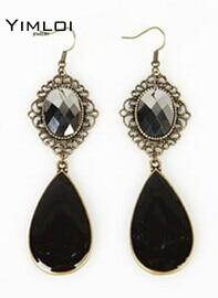 Bling Beauty 2014 New Vintage Fashion Black Drop Earrings Exaggerated earrings E890 gold earrings for women