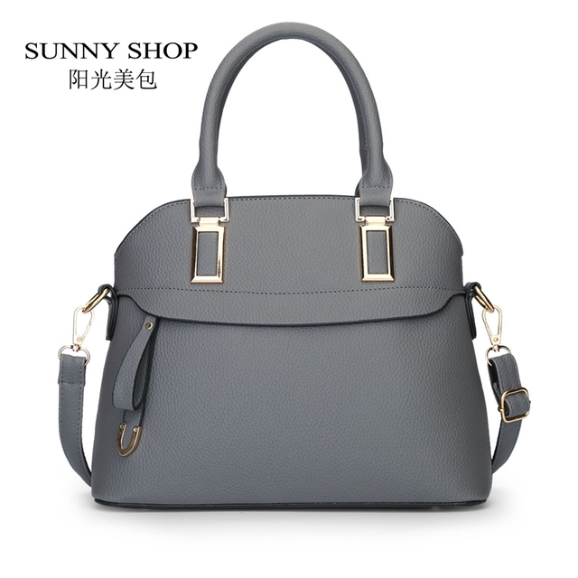 SUNNY SHOP 2017 New luxury women leather bags handbags women famous brands shoulder bag designer crossbody bag bolsa feminina