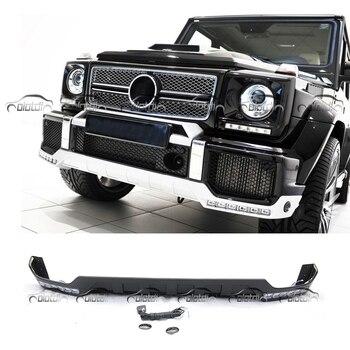 OLOTDI bắt sóng B Phong Cách TRƯỚC MÔI Spoiler Chất Liệu PU Dành Cho Xe Mercedes W463 G CLASS G63 G65 Có đèn Led