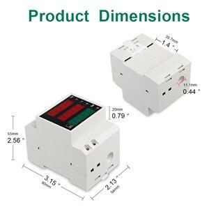 Image 3 - LEDSMITH D52 2047 DIN レール多機能デジタルメーター AC 80 300 V 0 100A アクティブ力率電気エネルギー電流計電圧計