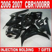 Glossy flat black fairing for HONDA 06 07 CBR1000RR fairings top quality cbr 1000rr 2006 2007 fairing YBJ94 brand new