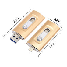 USB Flash Drive 3 in 1 OTG Pendrive 256GB 128GB High Speed Usb Flash 3.0 64GB 32GB For Smart iPhone 5/6/7/8/x/xr/iPad/Android(China)