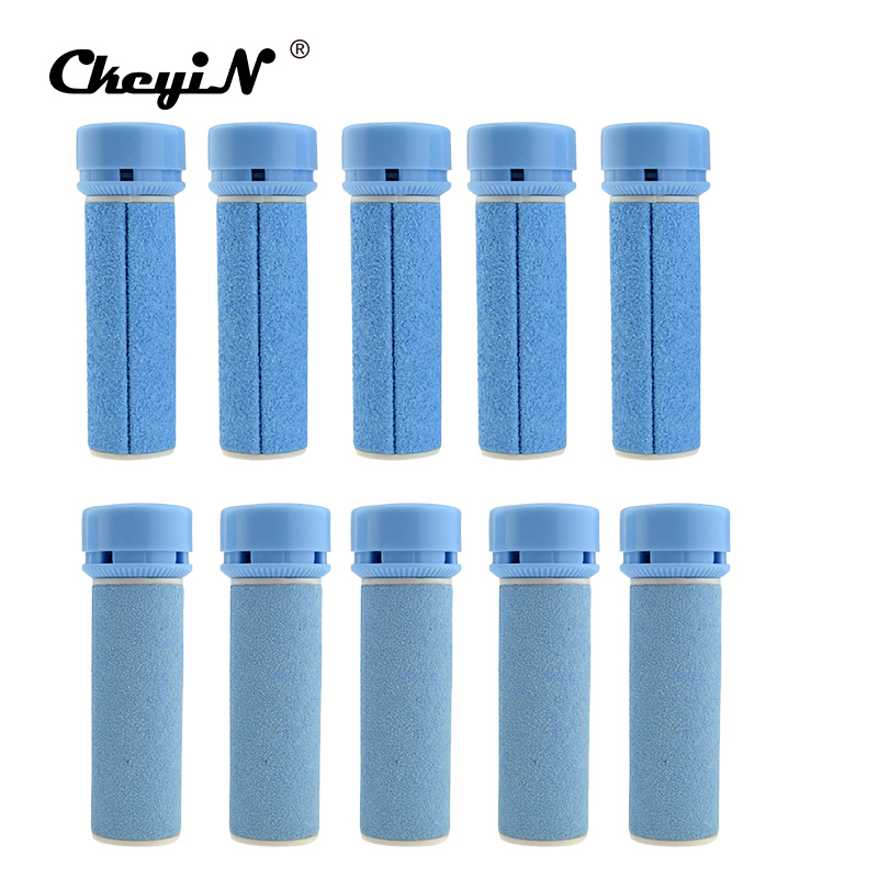 CkeyiN Foot Care Tools 10Pcs Replacement Roller Grinding Heads For Electric Foot Smoother Pedicure Callus Dead Skin Remover 26 2pcs lot electric callus remover for skin jml pedi pro deluxe electronic personal pedicure bullet pedipro wholesale hot sale