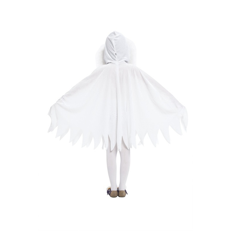 Child Kids Toddlers White Ghost Cloak Halloween Costumes  4