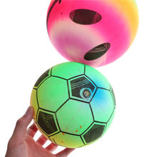 1PCS Colored Rainbow Inflated Ball Football Toy For Kid Children Swimming Pool Gifts Random Outdoor Water Beach Game Toy(China)
